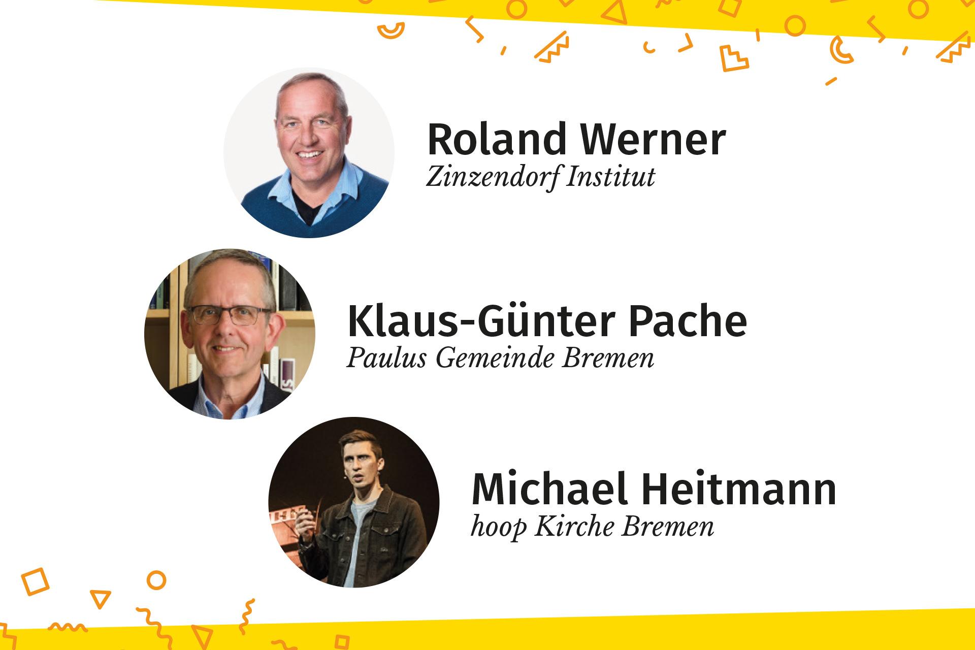 Die Speaker der gemeinsam-Konferenz: Roland Werner, Klaus-Günter Pache und Michael Heitmann