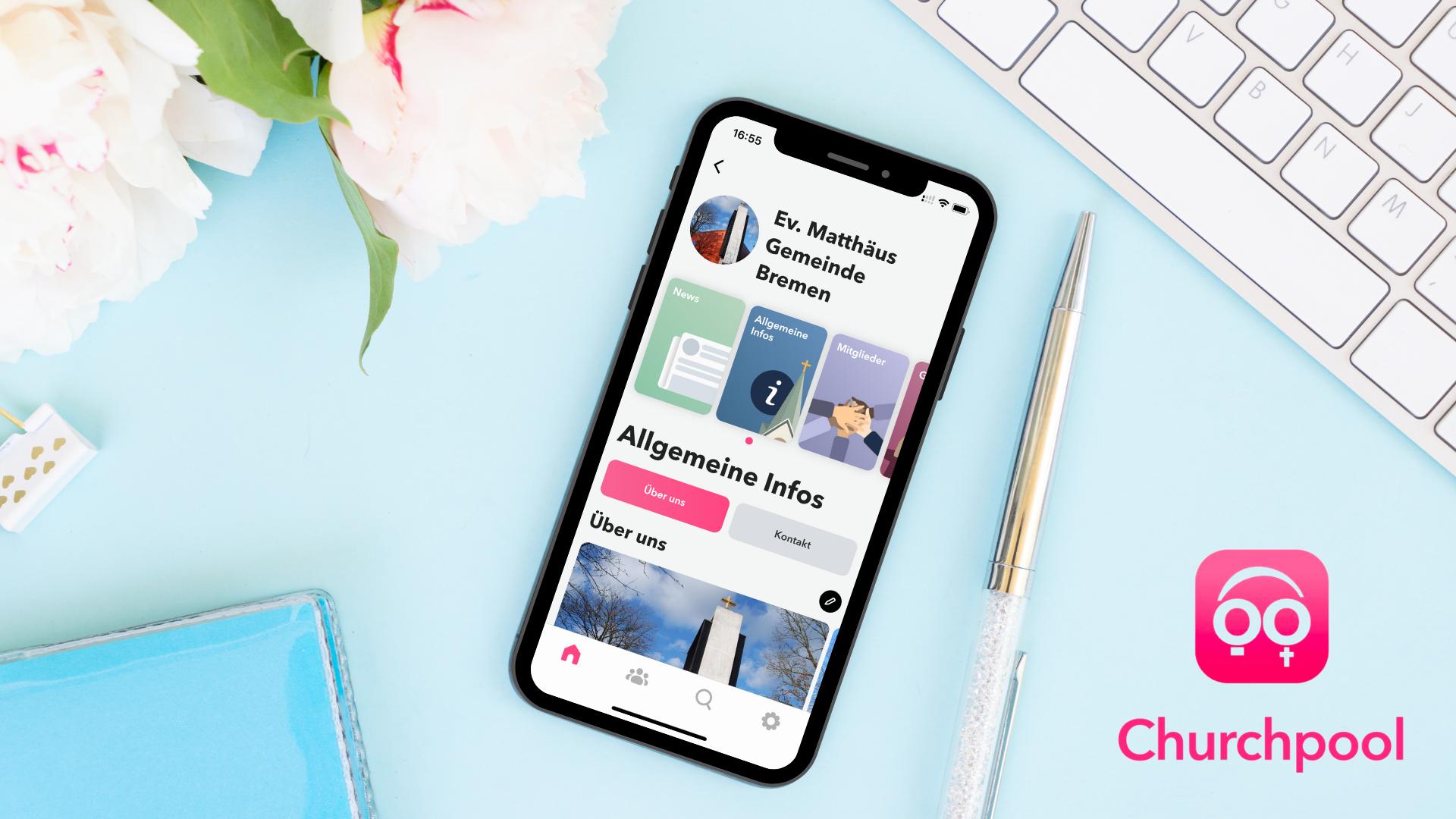 Churchpool | Eine mobile App für Gemeinden