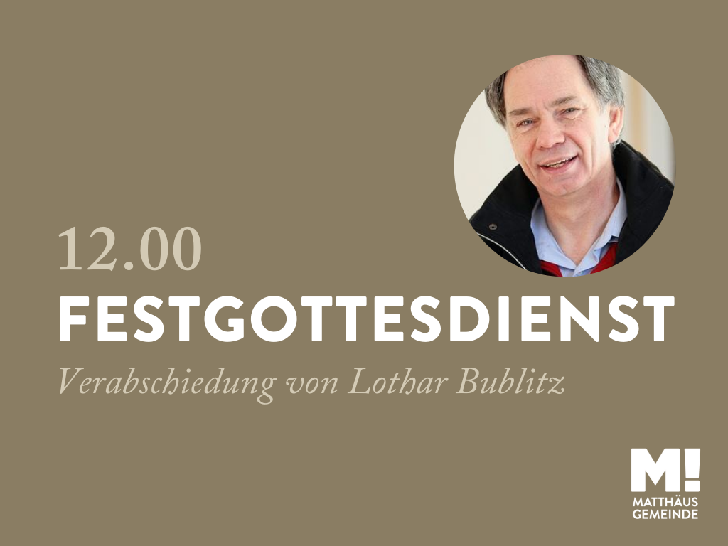 GO12 Festgottesdienst zur Verabschiedung von Lothar Bublitz