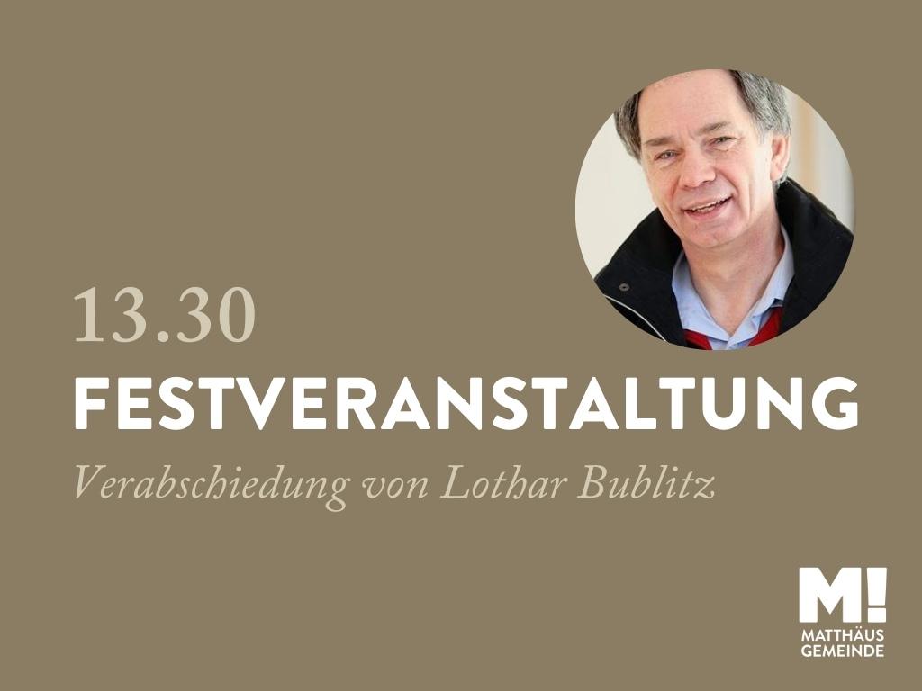 3G-Festveranstaltung zur Verabschiedung von Lothar Bublitz