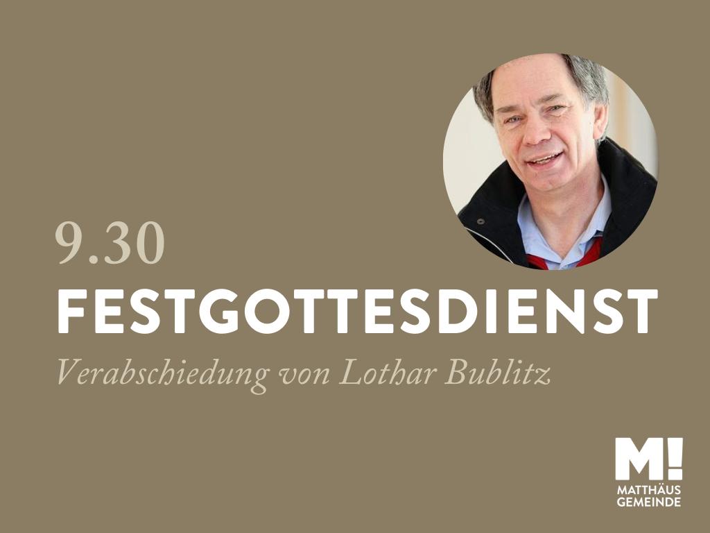 Go930 Festgottesdienst zur Verabschiedung von Lothar Bublitz